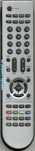 Telecomanda DVT1901, Lenco combi , DVT 1701, inlocuitoare