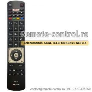 Telecomanda-LED-RC5118-LCD-AKAI-CU-NETFLIX-remote-control-ro