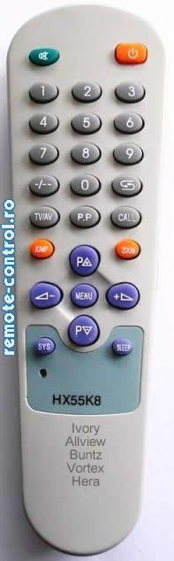 Telecomanda HX55K8, Vortex HX 55 K8