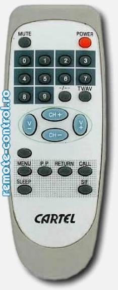 Telecomanda CTC1433, Cartel, CTC 1433