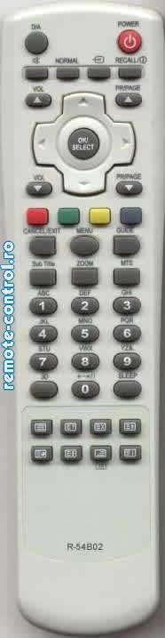 Telecomanda R54B02, Daewoo, R-54B02