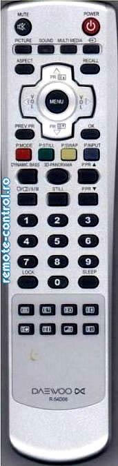 Telecomanda R54D06, Daewoo, R-54D06