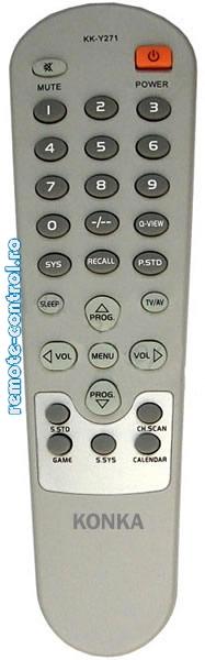 Telecomanda KK-Y271, TV Konka, KKY271B, cu aspect original
