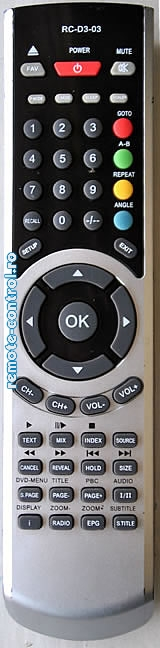 Telecomanda RC-D3-03, LCD, Tevion, RC D3 03, model RCTFD2211