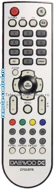 Telecomanda Z7G187R, LCD, Daewoo,  Z 7 G 187 R, model DLT19B4X,